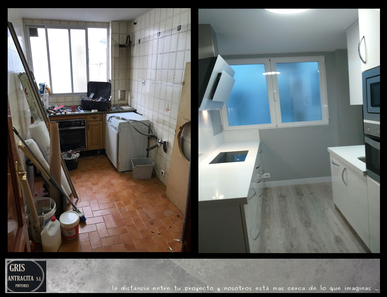Pintar azulejos suelo cocina finest affordable cocina pintar suelo bao affordable amazing - Pintar suelo cocina ...